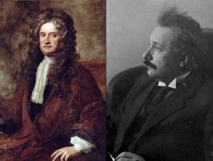 Newton y Einstein. Considerados por muchos los dos mayores genios de la historia de la física.