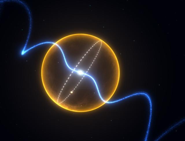 Recreación artística del planeta de carbono alrededor de PSR J1719-1438
