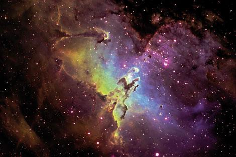 Imagen de la nebulosa del águila por Geschel