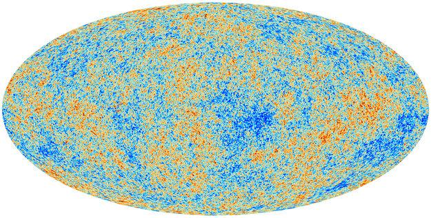 Mapa de cielo completo del fondo cósmico de microondas realizado por Planck