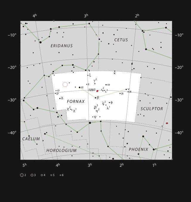 Zona del cielo en el que se han realizado las observaciones